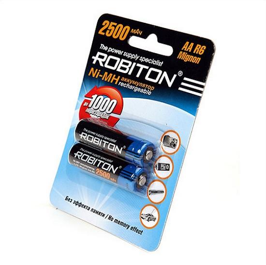 Аккумулятор AA - Robiton 2850 mAh 2850MHAA SR2 13205 (2 штуки)